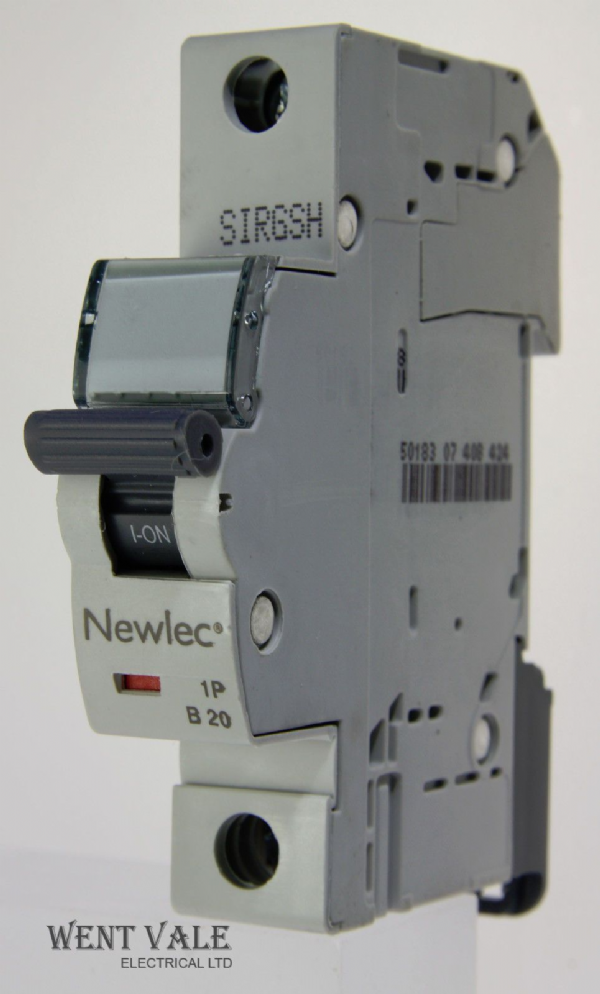 Newlec - NLMB120BA - 20a Type B Single Pole MCB Latest Model NEW